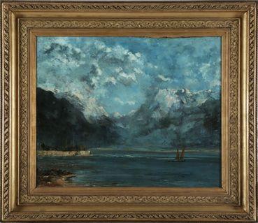 """""""Vue du lac Léman"""", (1876) de Gustave Courbet"""