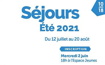 Bannière séjours été 2021 Espace Jeunes