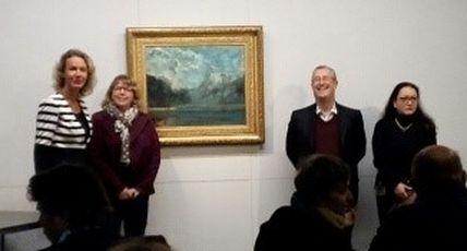 """""""Vuedu Lac Léman"""", l'oeuvre de Gustave Courbet accueillie au Musée départemental du Doubs"""
