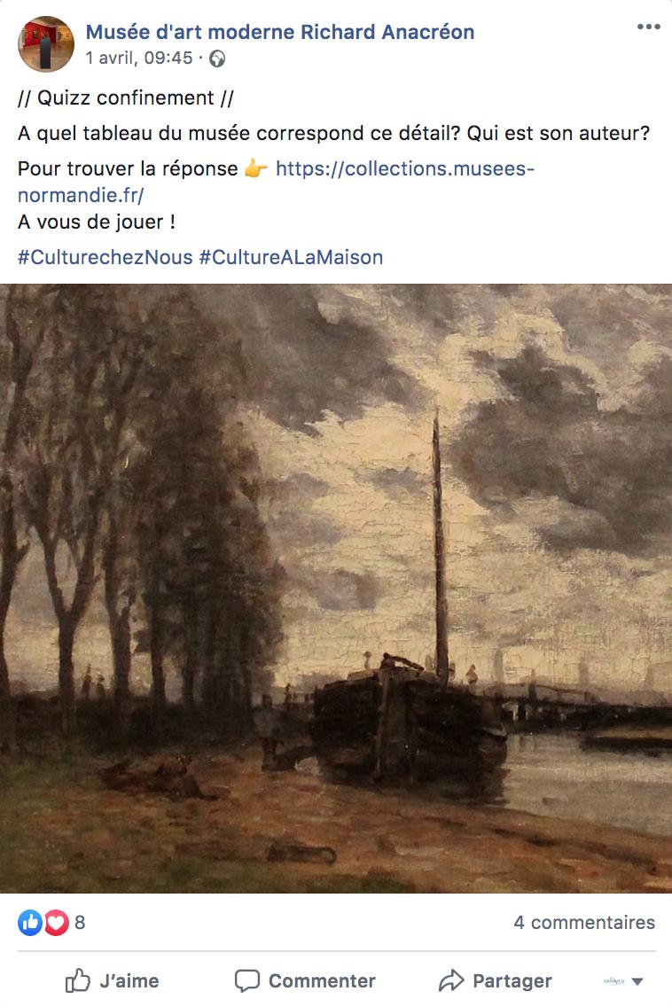 L'équipe des musées anime leurs réseaux sociaux pendant le confinement.