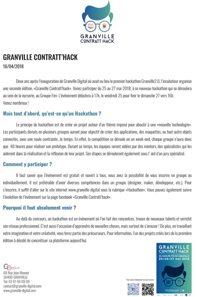 Communiqué de presse Granville Digitale