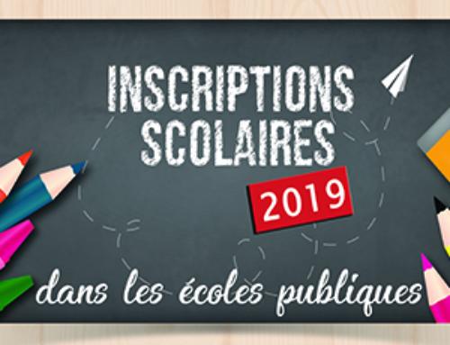 Inscription à la rentrée scolaire 2019>2020