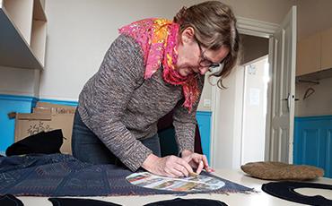 Anne-Laure Bechelen expose ses chapeaux jusqu'au 8 mars et en avril 2020.