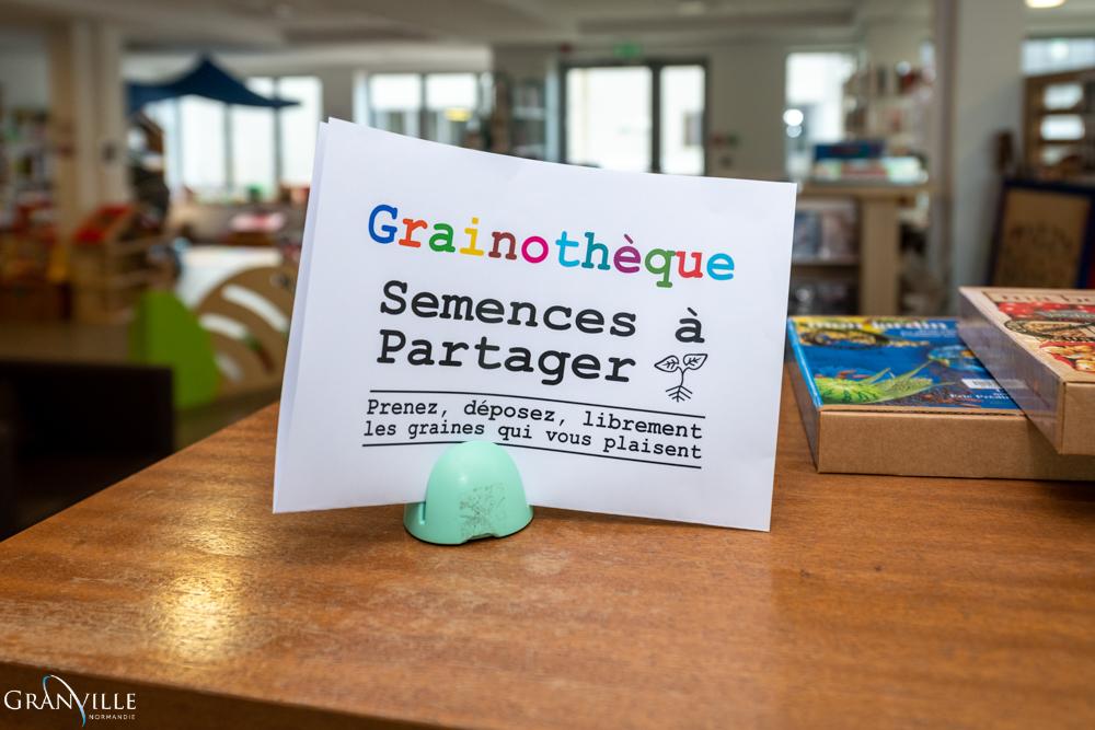L'animathèque et la médiathèque lancent leur grainothèque.©Benoit.Croisy - Coll. Ville de Granville