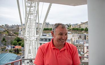 Franck Beaumont, dans sa grande roue.