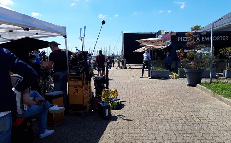 Granville accueille le tournage du prochain film de Serge Bozon 2. ©Flora.Gelot - Coll. Ville de Granville