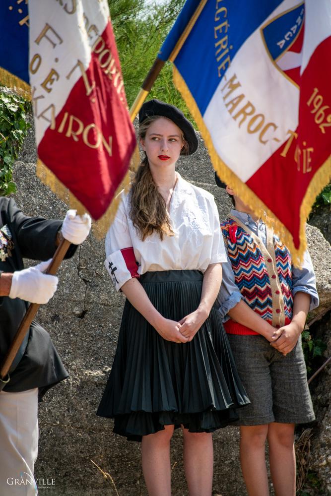 Elodie, 17 ans, a participé à l'inauguration du monument de la Pointe du Roc.