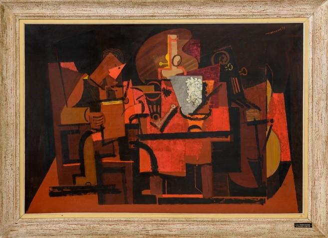 Louis Marcoussis, Le liseur sous la lampe, 1937, Centre Pompidou, MNAM-CCI,
