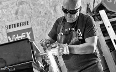 L'atelier de Marc Dupard se situe à Longueville