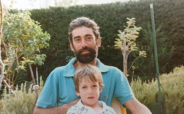 Matthieu Rodriguez et son père.©DR