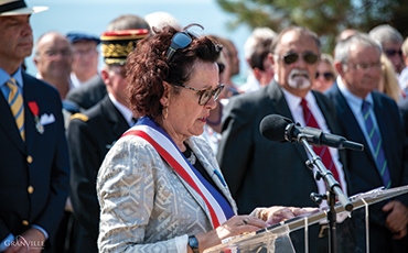 Dominique Baudry, maire de Granville, a pris la parole.