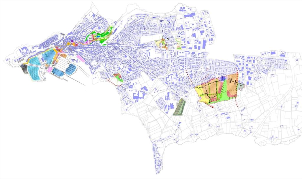 Plan de localisation des sites de projets