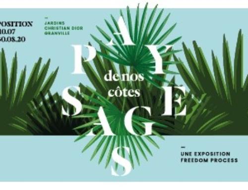 L'exposition Paysages de nos côtes dans le jardin Christian Dior