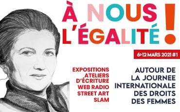 L'artiste Rose Warda a réalisé le portrait de Simone Veil présent sur l'affiche de À nous l'égalité !