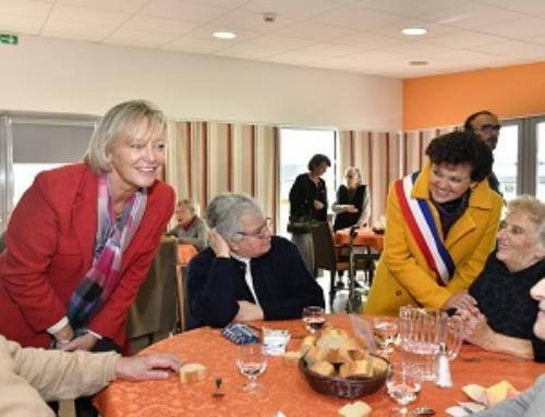 Sophie CLUZEL, secrétaire d'Etat chargée des personnes handicapées, en visite à Granville