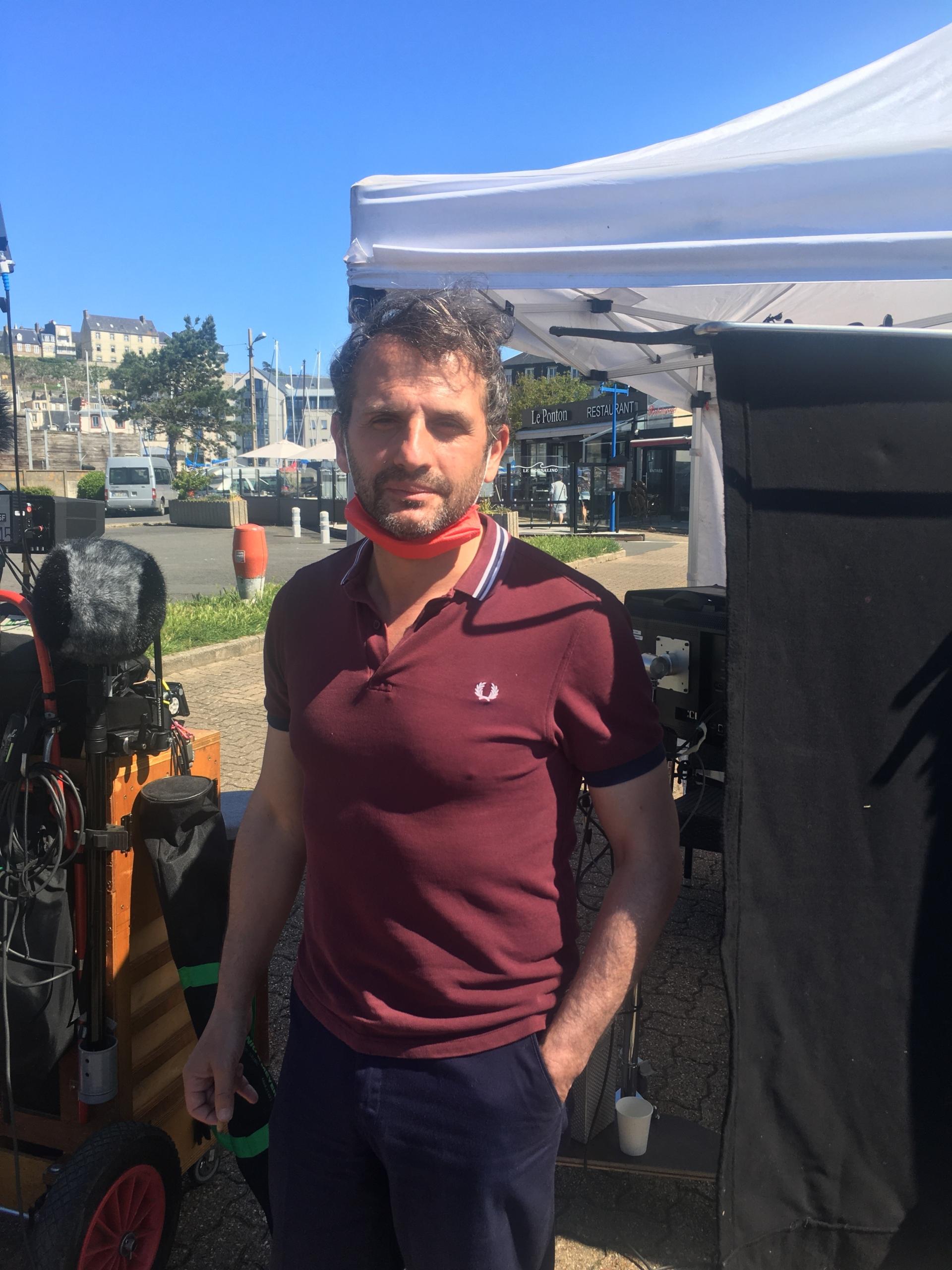 Le réalisateur Serge Bozon tourne son prochain long-métrage, Don Juan, à Granville. ©Marie Blanc-Juhel - Coll. Ville de Granville