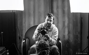 Matthieu Rodriguez est derrière la caméra.©Myriam.Gantet