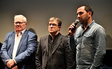 Guy Lefevre, vice-président, Dominique Gortari, président, et Johan Gallon, entraîneur de l'US Granville.©Benoit.Croisy