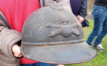 Des casques de la Première Guerre mondiale seront exposés.