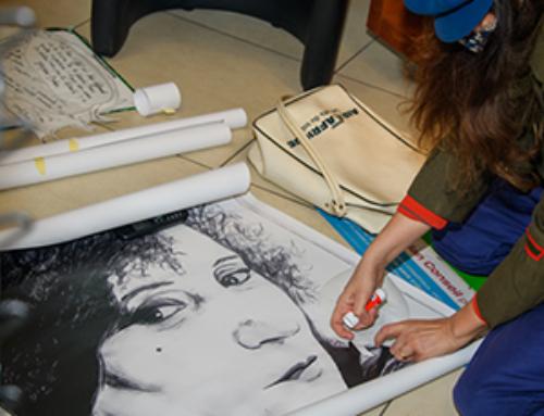 Les portraits de Rose Warda s'expriment sur les vitrines des commerces #anouslegalite