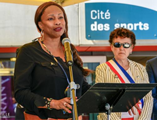 Laura FLESSEL, la Ministre des Sports en visite à Granville