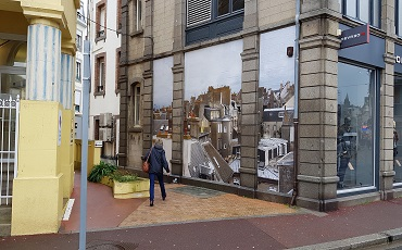 Affichage éphémère XXL en centre-ville