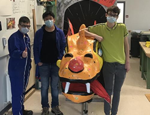 147e Carnaval de Granville : des jeunes du dispositif inclusif Henri Wallon ont restauré un dragon