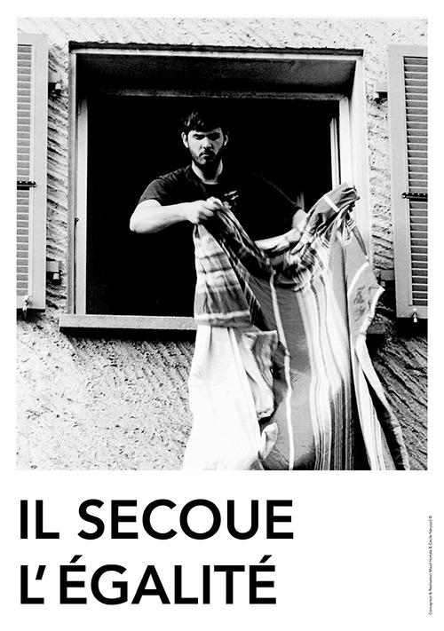Il secoue l'égalité. ©Maud Hortala & Cécile Nanjoud