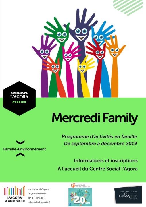 Programme mercredi family septembre à décembre 2019
