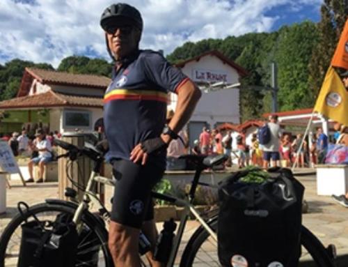 Le coureur du Tour de France Solidaire Philippe Sudres fera étape vendredi à Granville